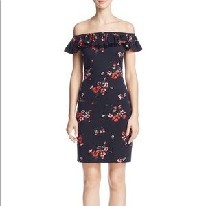NWT rebecca taylor off the shoulder bodycon dress